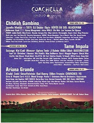 2 x Coachella GA Weekend One tickets with car camping pass