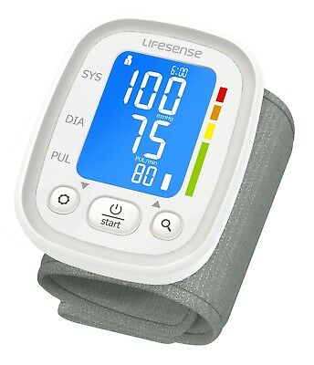 Digital Blood Pressure Monitor Automatic Wrist Style Backlit Brand New Dual User