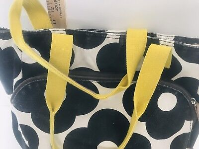 4fb89a40dd72 Orla Kiely for Target Yoga Gym Canvas Tote Bag Floral Black White Yellow