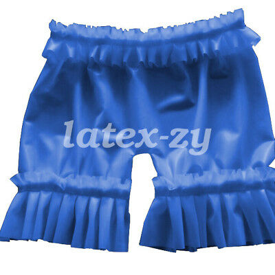 New 100% Latex Rubber Gummi Women Sexy Elastic Lace Shorts 0.4mm Size S-XXL