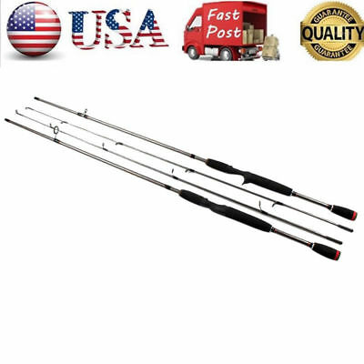 Carbon Fiber Fishing Rods Travel Spinning Lure Rod Sea Saltwater Pole 1.8M//5.9ft