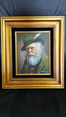 LMOP915  A bearded old man hand modern paint figures art oil painting on canvas