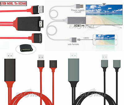 USB MHL To HDMI 1080P TV Adapter Cable HD For Samsung Galaxy S7 / S8 / Plus Edge
