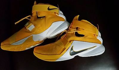 9a9ded91163 Nike Lebron Soldier Ix Tb  813264 772 Men s Basketball Shoes 16.5 Gold Rare  New