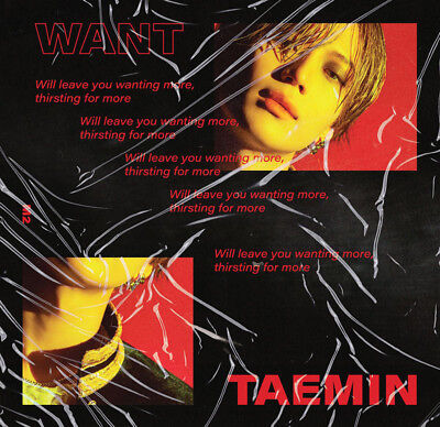 SHINEE TAEMIN WANT 2nd Mini Album MORE Ver CD+POSTER+Book+Card+Stand KPOP SEALED