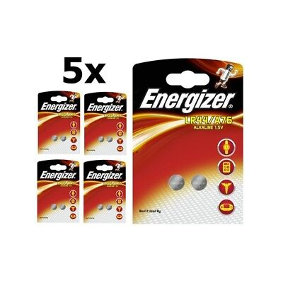 BS272-5x Energizer G13 / LR44 / A76 1.5V button cell battery US