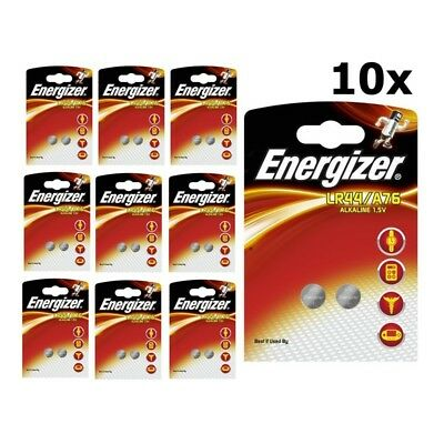 BS272-10x Energizer G13 / LR44 / A76 1.5V button cell battery US