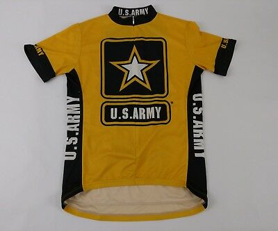 US Army Cycling Jersey Mens Medium 3 4 Zip Short Sleeve Polyester Primal  Wear e8a95904e
