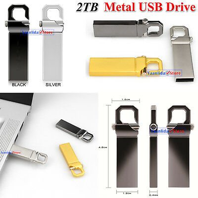 2TB USB Flash Drives Memory Metal iFlash Drive Pen Drive U Disk For PC Laptop UK