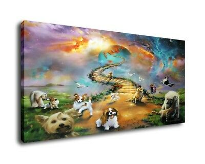 Jim Warren Fantasy Art Oil Painting Print On Canvas Home Decor Dogs Go To Heaven