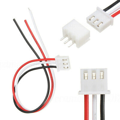 10Sets 3-Pin Mini Micro JST XH2.54mm Connector Plug Socket Wire Cable Cord 150mm