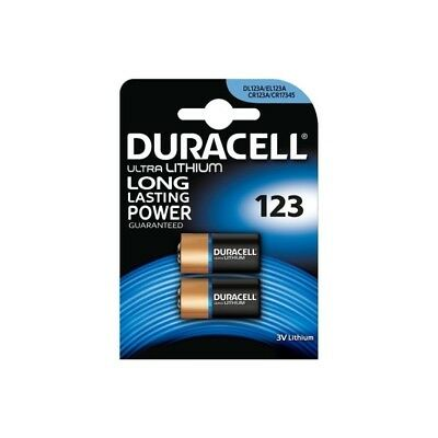BS098-1x Duracell CR123 CR123A 3V Lithium battery (Duo Pack) US