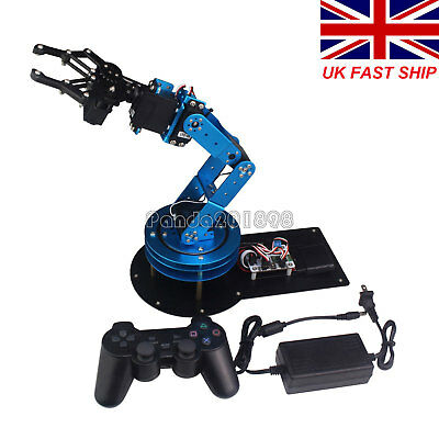 LeArm Unassembled 6DOF Mechnical Robotic Arm w/ Servo & PS2 Handle Control UK189