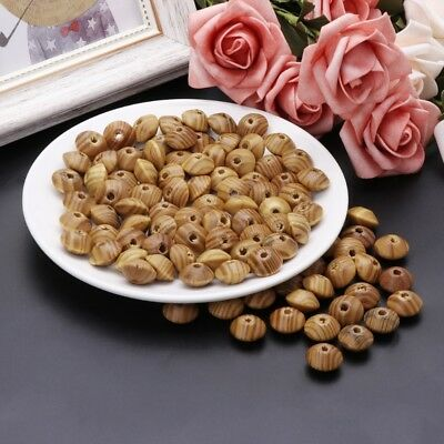 100pcs Pine Wood Beads For Jewelry Bracelet Necklace Making Loose Spacer 16mm
