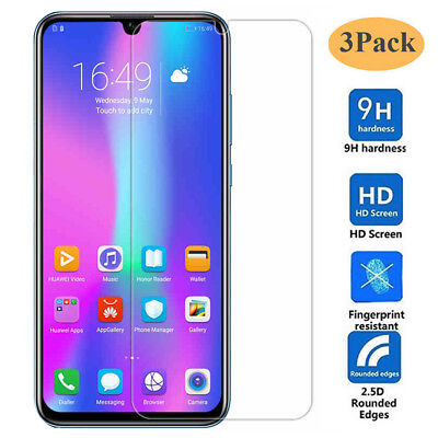 3Pack 9H Tempered Glass Screen Protector Protective Film for Huawei P Smart 2019