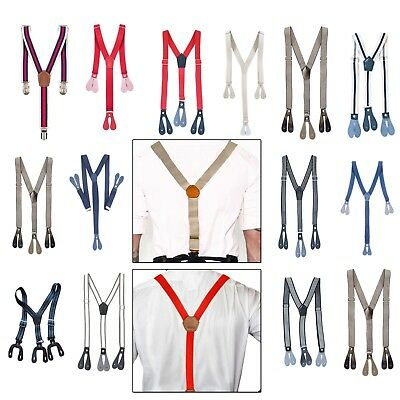 20mm/25mm Kids Braces Elastic Strips Button Hole Y Back Suspenders Trouser