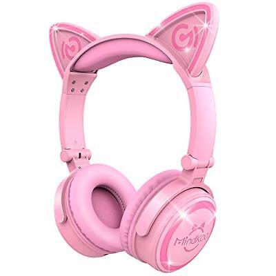 [Cat ear headphones] MindKoo sealed Bluetooth wireless Pink