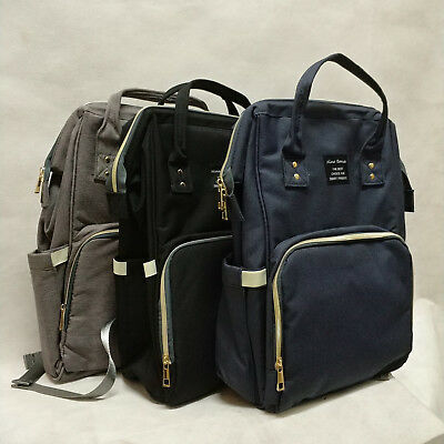 Waterproof Large Mummy Nappy Diaper Bag Baby Travel Changing (Navy-BLUE)
