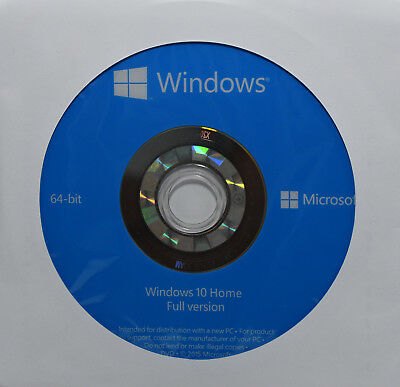 Original Genuino Windows 10 Home Instalación Completa Versión DVD 64 Bits