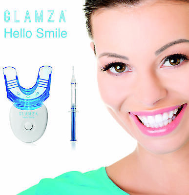 Hi SMILE Teeth Whitening Kit LED Laser Light Mouth Tray + Dental White Tooth Gel