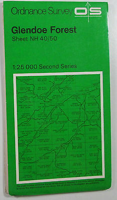 1978 old OS Ordnance Survey Second Series 1:25000 Map NH 40/50 Glendoe Forest