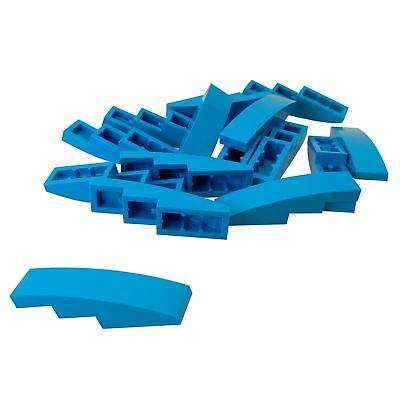 Lego 50 New Dark Blue Slope Sloped Curved 3 x 1 No Studs