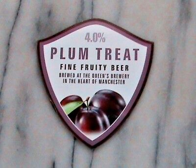 Hydes Plum Treat real ale beer pump clip sign