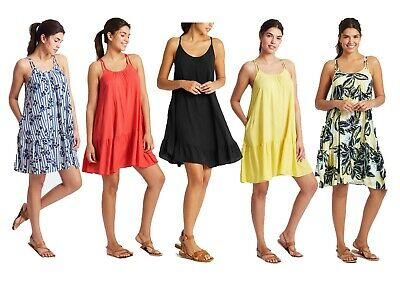 Ladies Ex Marks And Spencer Woven Flippy Beach  Dress M&S Collection 5 Colours