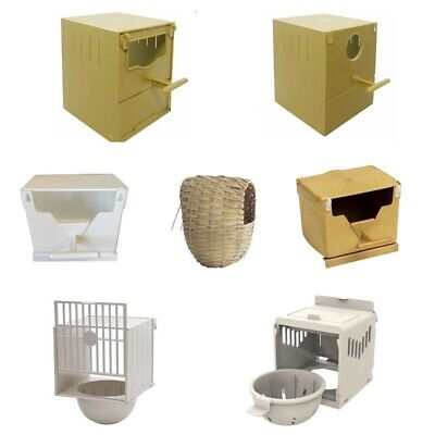Finch Nest Box / Nests IN OPTIONS Wicker / Plastic For Cage Finches with Hooks