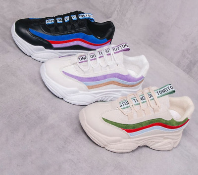 2019  Platform Lace-Up Fashion Breathable Women Sneakers