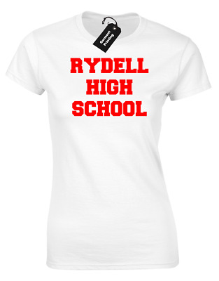 Rydell High School Ladies T-Shirt Cool Retro Grease Classic Danny Sandy T-Birds
