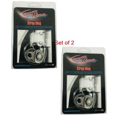 2 Canyon Dancer Stainless Steel Dirt Bike Motorcycle Tie Down Strap Rings CR KX