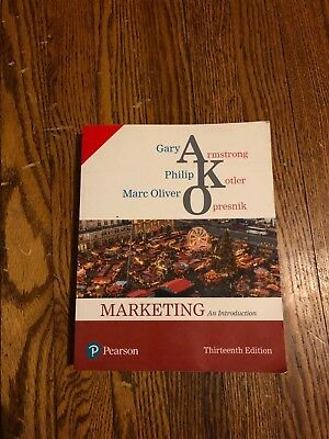MARKETING An Introduction 13th Edition by Gary Armstrong, Kotler and Opresnik