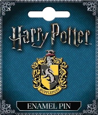 Harry Potter House of Hufflepuff Crest Logo Metal Enamel Pin