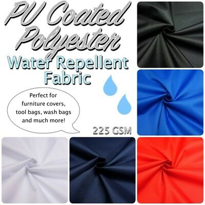 PU Coated Polyester Water-Repellent Strong Durable Outdoor/Indoor Craft Fabric