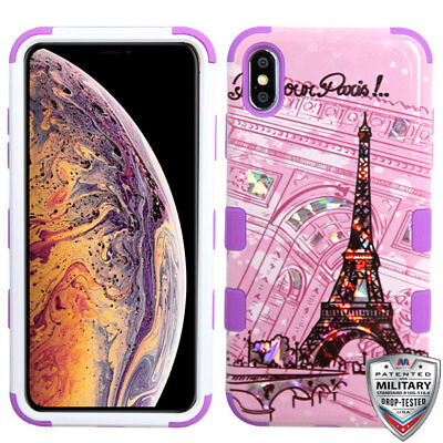 Hybrid Case For Apple iPhone XS Max XR 7 8 Plus Shockproof Rubber Cover PARIS