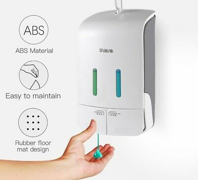 Wall Mounted Double Manual Liquid Soap Dispenser Hand pressing Shower Body Lotio