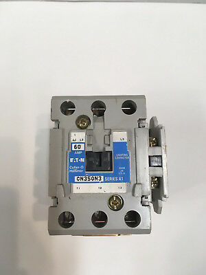 Eaton Cutler Hammer CN35GN3 3 Pole 60A Lighting Contactor w/Aux Contact