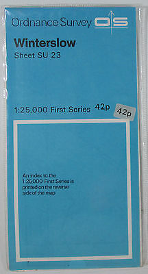 1958 old vintage OS Ordnance Survey 1:25000 First Series Map SU 23 Winterslow