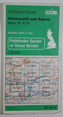 1981 Old OS Ordnance Survey 1:25000 Pathfinder Map SE 41/51 Hemsworth & Askern