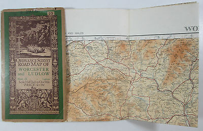 1932 old OS Ordnance Survey half-inch map layers lge sheet 22 Worcester Ludlow