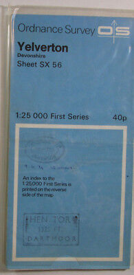 1959 Old Vintage OS Ordnance Survey 1:25000 First Series Map SX 56 Yelverton