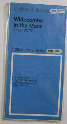 1979 Old OS Ordnance Survey 1:25000 First Series Map SX 77 Widecombe in the Moor