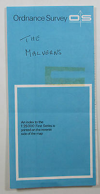 1957 old vintage OS Ordnance Survey 1:25000 First Series Map SO 74 Great Malvern