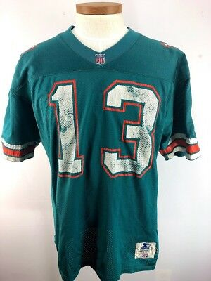 b4ca4b7d VINTAGE AUTHENTIC STARTER Miami Dolphins Dan Marino NFL Jersey USA Size 46