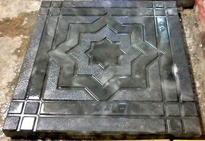 **star Design** Plastic Mold For Concrete, Cement, Plaster
