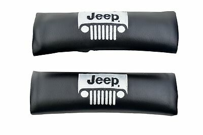 Jeep Seat Belt Shoulder Pads Black With Embroidery Easy To Install