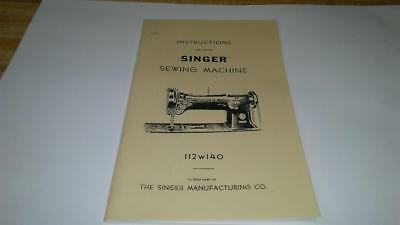Singer 112W140 Sewing Machine Instructions