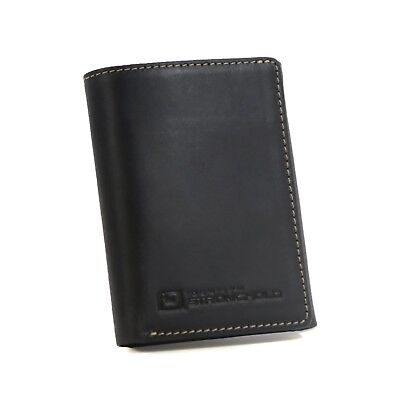 Men's Genuine Leather Trifold Wallet with Exquisite Quality Rugged Leather