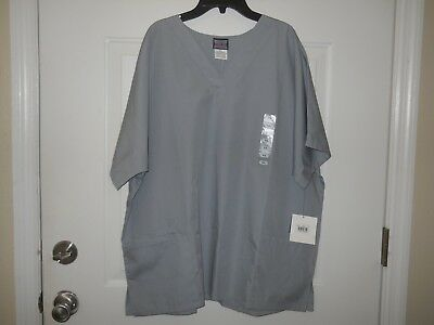 Cherokee Workwear Unisex Scrub Top Size XL Gray NWT